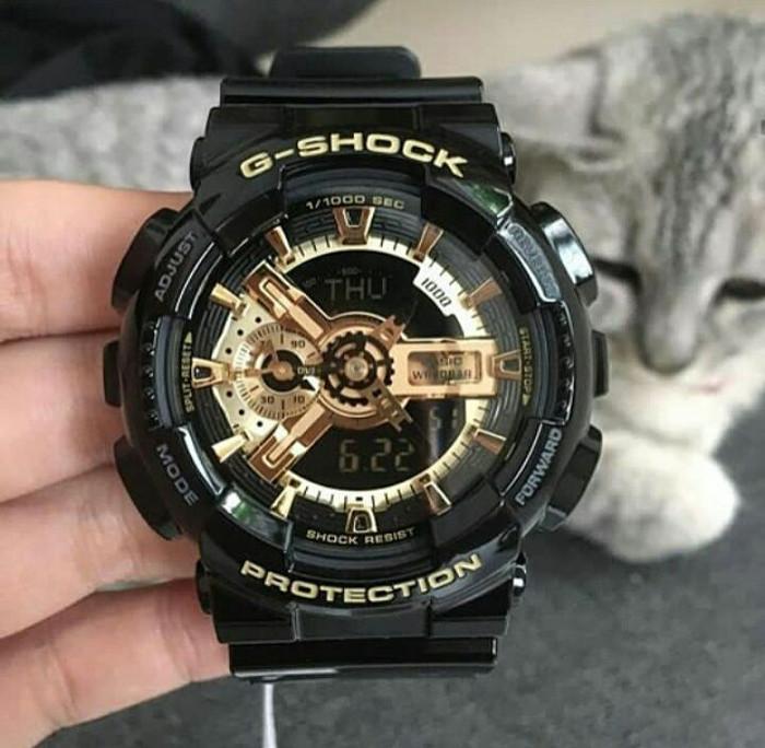 57df465894d Jual Jam Tangan Casio G-Shock GA 110 Black Gold Original BM - Kota ...