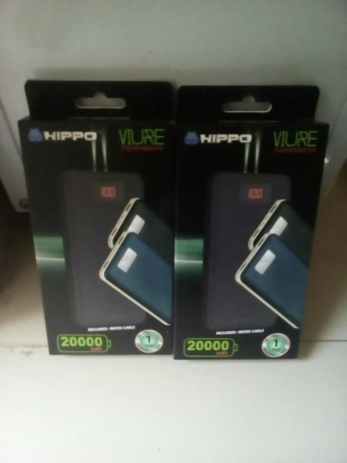 HIPPO POWERBANK 20000MAH VIURE SIMPLE PACK / Power Bank Original Resmi