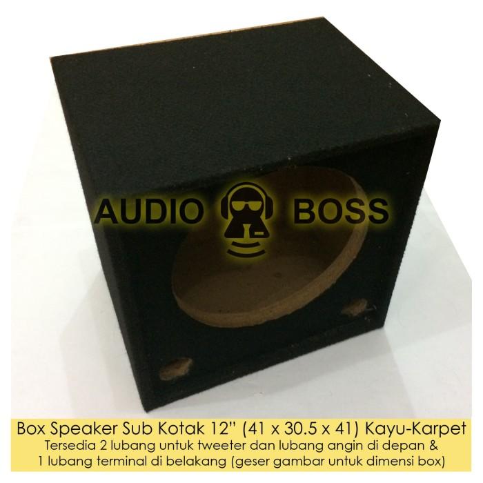 harga Box boks speaker salon sub kotak 12  12 inch kayu karpet 41 30.5 41 cm Tokopedia.com