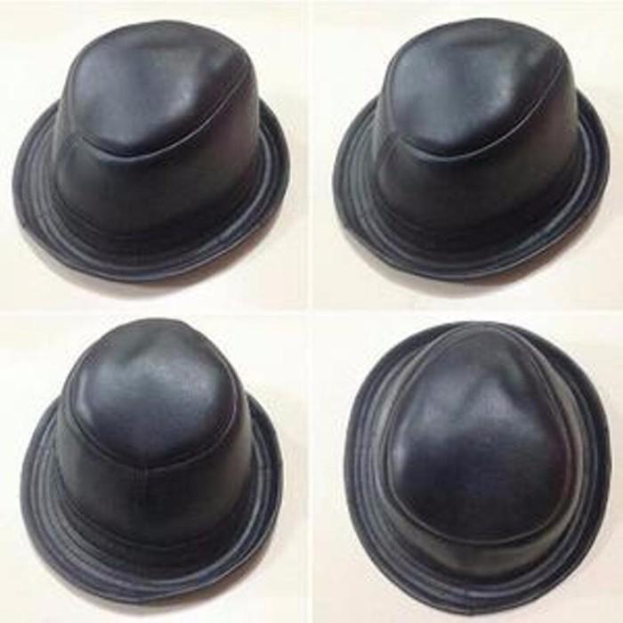 BEST Topi kulit Asli Garut fedora