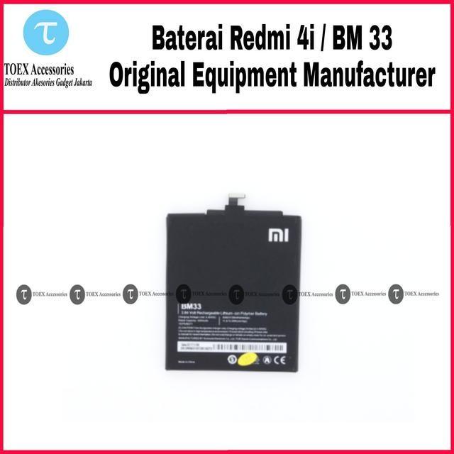 harga Baterai xiaomi redmi 4i - mi 4i bm33 original - battery batre bm 33 Tokopedia.com