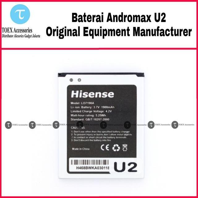 Baterai Smartfren Andromax U2 Original - Battery Batre
