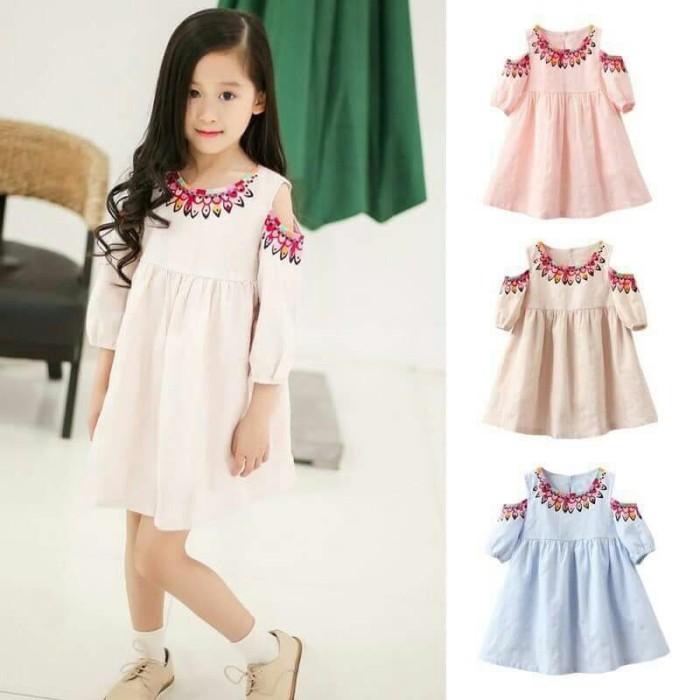 SABRINA DRESS ANAK SAMATA/baju sabrina anak/dress anak import