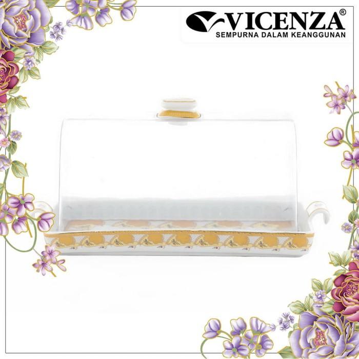 harga Vicenza square cake plate tempat kue roti p76 motif camelia Tokopedia.com