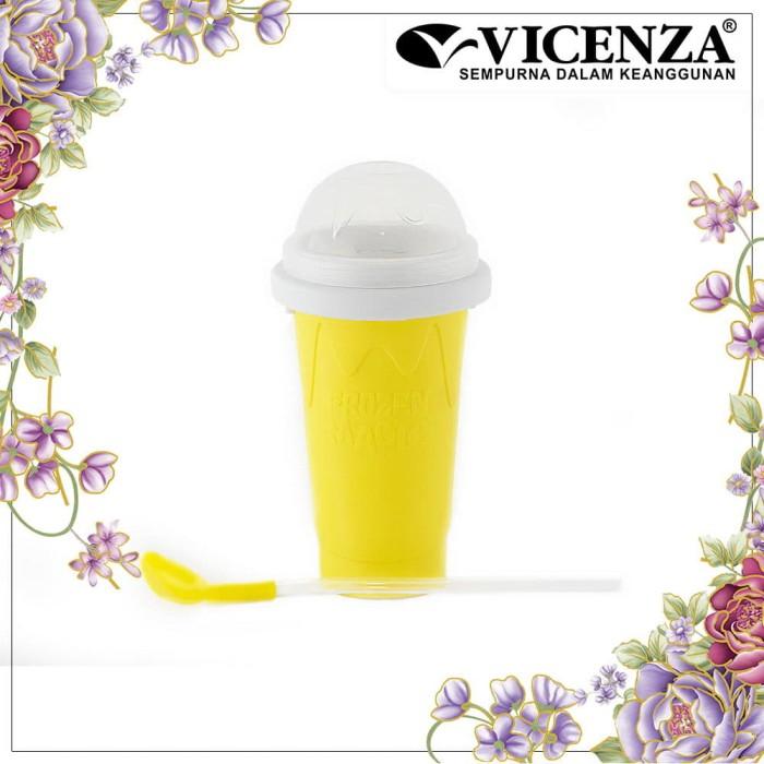 harga Vicenza squeeze cup slushy maker - gelas es serut vsq01 kuning Tokopedia.com
