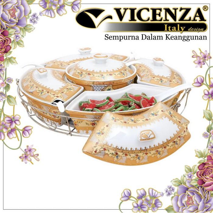 harga Vicenza small prasmanan kecil b472 motif camelia Tokopedia.com