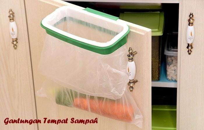 Gantungan Holder Tempat Plastik Sampah Dapur Gantung Di Pintu Lemari