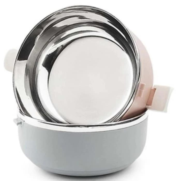 ANGEL Eco Lunch Box Stainless Steel Rantang 3 Susun Glossy