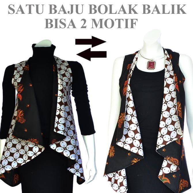 Jual Jual Tunik Batik Jas Panjang Bolero Cardigan Rompi Panjang A307 Dki Jakarta Shopaprillia Tokopedia