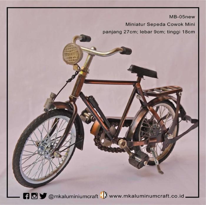 harga Jual miniatur sepeda onthel cowok mini - ontel kuno - mk aluminium Tokopedia.com