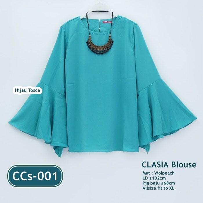 Jual Clasia Blouse New Baju Atasan Wanita Model Lengan Lonceng Kota Bekasi Mall Busana Muslim Tokopedia