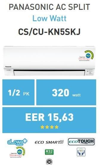 harga Ac split panasonic 1/2pk kn5skj low watt Tokopedia.com