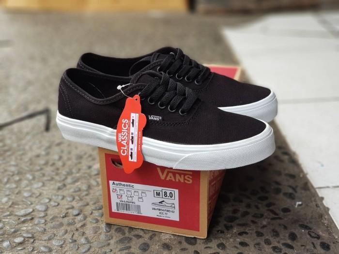 ... harga Sepatu vans authentic mono black white premium waffle icc termurah  Tokopedia.com 3b7b0998f8