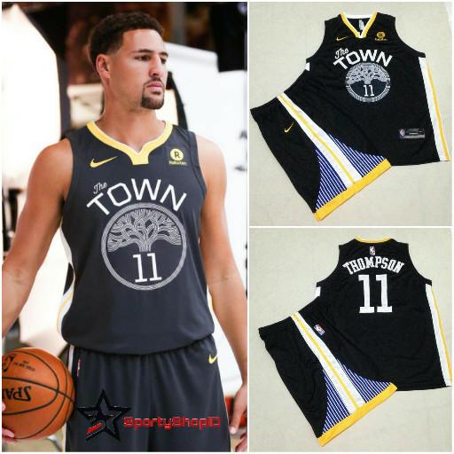 size 40 44475 ad484 Jual JERSEY BASKET NBA SWINGMAN KLAY THOMPSON GOLDEN STATE WARRIORS 2018 -  Kota Bandung - Sporty Shop ID | Tokopedia