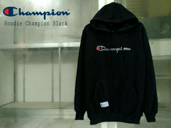 sweater champion hitam