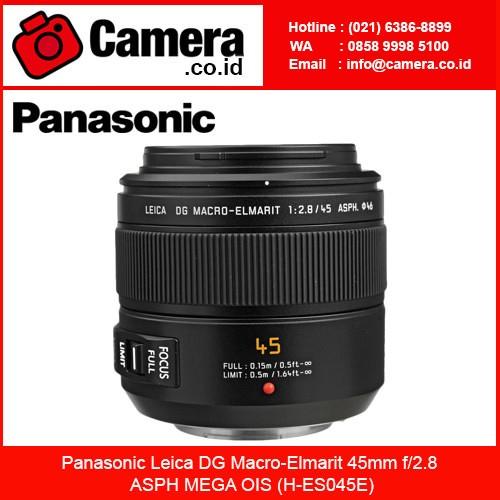 harga Panasonic leica dg macro-elmarit 45mm f/2.8 asph mega ois (h-es045e) Tokopedia.com
