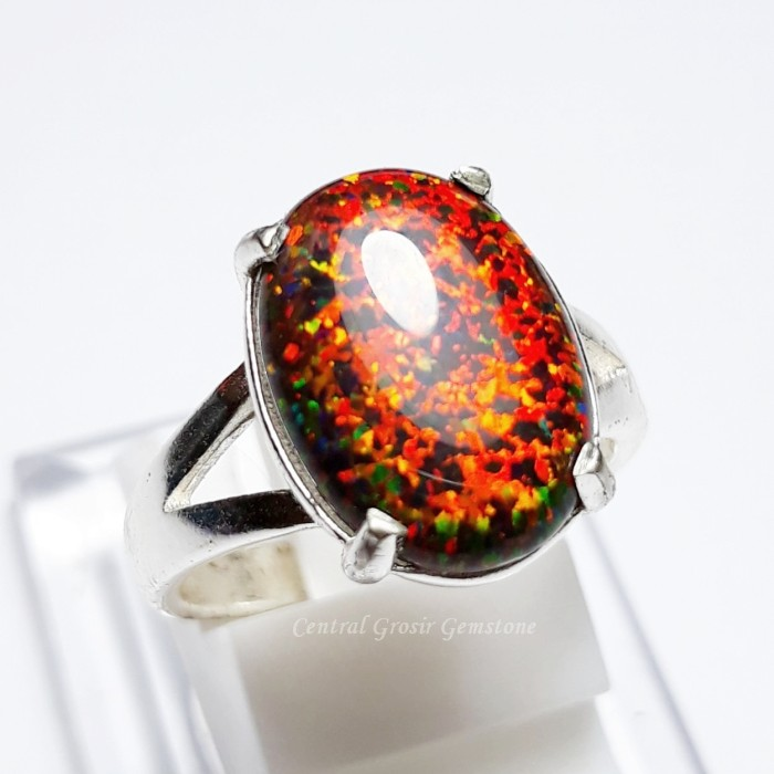 harga Batu cincin black opal kalimaya ring perak istimewa Tokopedia.com
