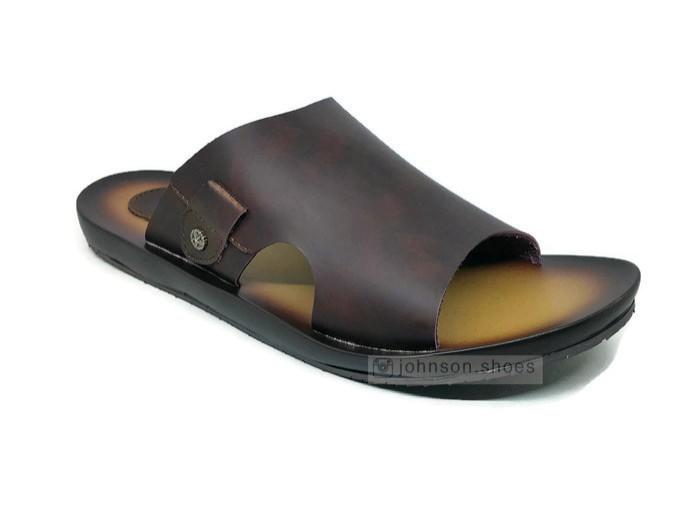 harga Sendal / sandal kulit casual pria reinhard - hb1003 coklat Tokopedia.com