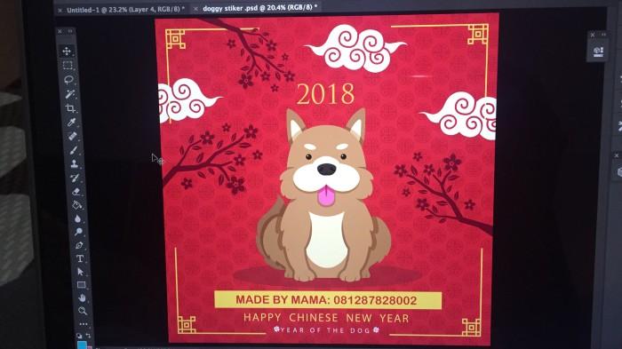 harga Stiker Cny Doggy Tokopedia.com