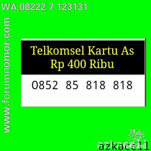 Telkomsel Kartu As Nomor Cantik 0852 10000 860 Daftar Harga Source · Nomer Nomor Cantik perdana As seri double abc 818 818