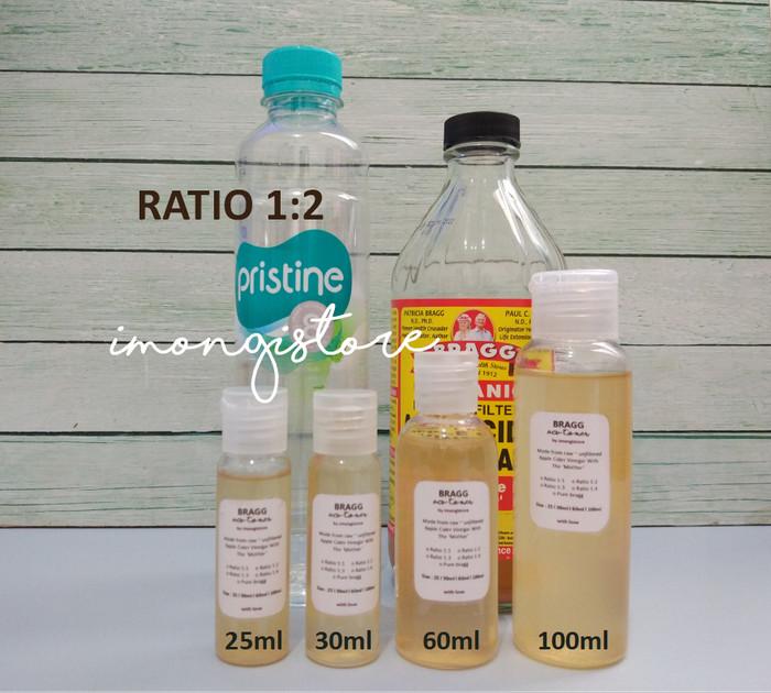 [PURE BRAGG] Pure 60ml 60 ml Apple Cider Vinegar ACV Cuka Apel