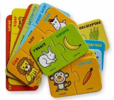 harga Mainan edukasi puzzlo kartu where is my food flash card anak balita Tokopedia.com