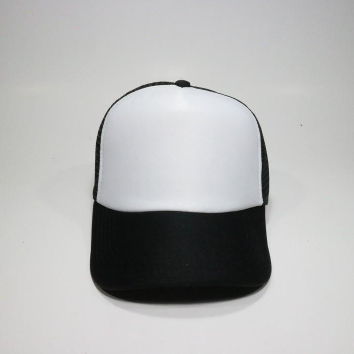 Jual Topi Polos Hitam Putih Harga Murah Bahan Trucker - jodandoh ... ecc528290e