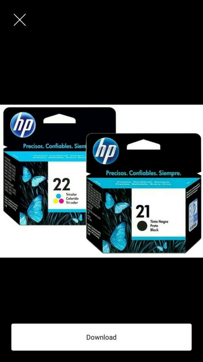 Paketan hp cartridge 21 / 22 black / color original 100% ...