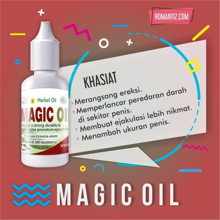 Obat Oles Anti Impoten Lemah Syahwat Pria -MAGIC OIL- Original BPOM