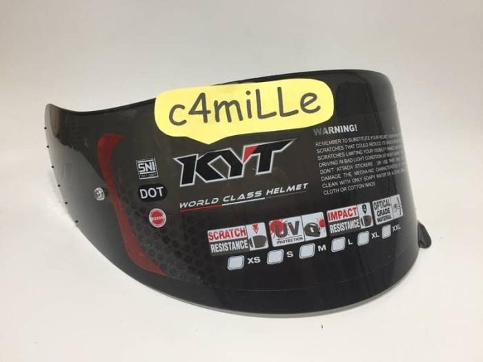 harga Kaca helm kyt flat visor dark untuk kyt r10 rc7 k2 r8 mds victory pnp Tokopedia.com