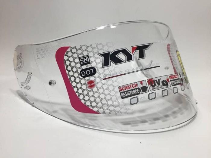 harga Kaca helm kyt flat visor clear untuk kyt r10 rc7 k2 r8 mds victory pnp Tokopedia.com