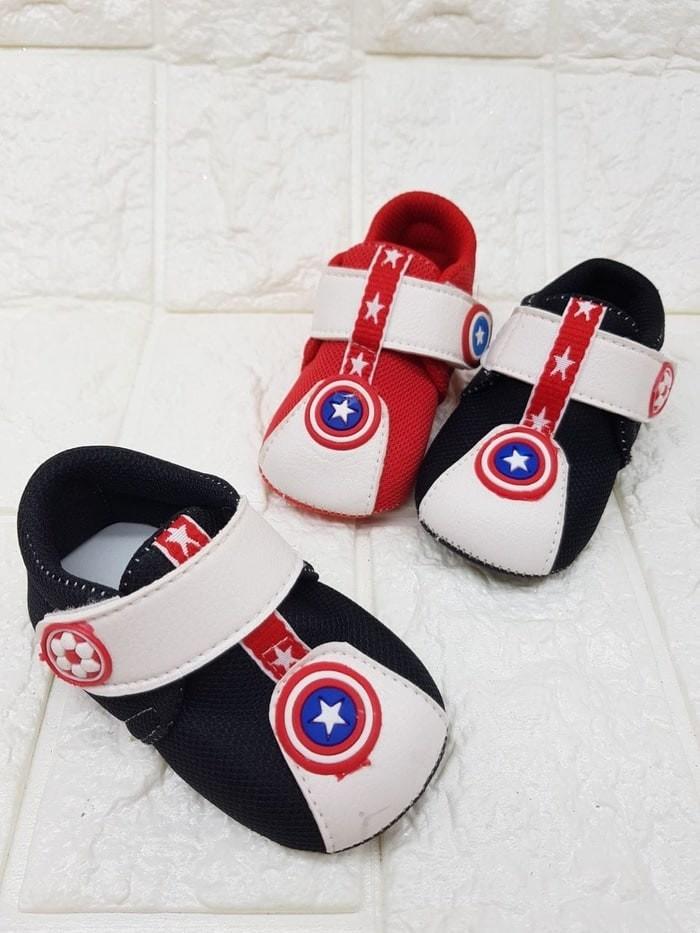 Jual Sepatu Prewalker Super Heroes Captain Amerika Sol Kain - Harga Coret
