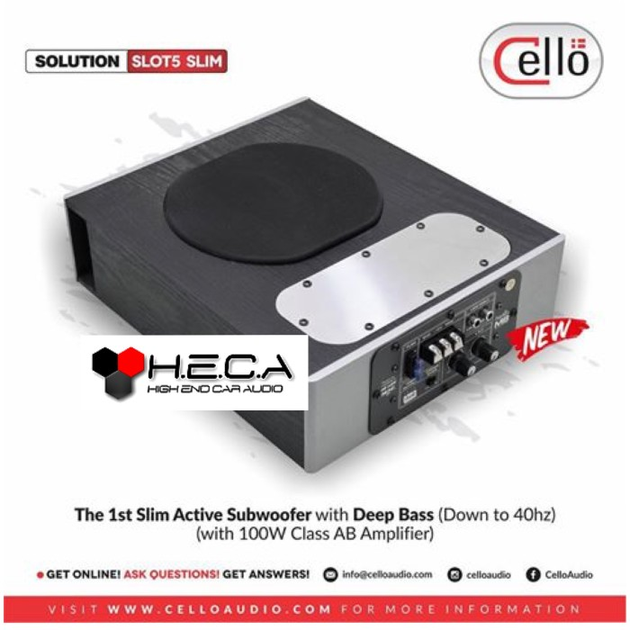"harga Cello slot5 slim subwoofer aktif active bass sub kolong 5"" slot-5 Tokopedia.com"