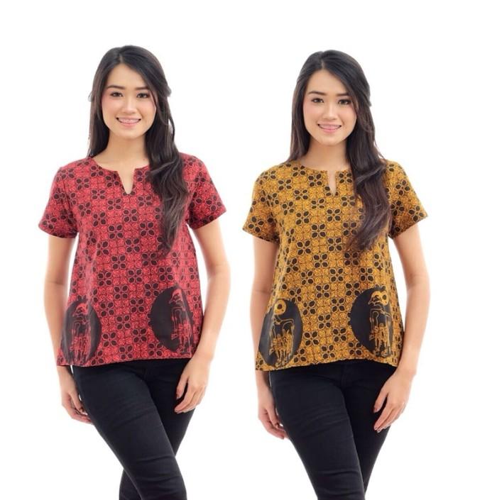 Jual AEP016 Kemeja Batik Muslim Kerja Primis Premium Atasan Baju ... 7694ff85ca
