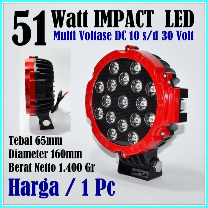 harga Led lampu tembak motor mobil 51w lampu sorot led 12v 12 volt offroad Tokopedia.com