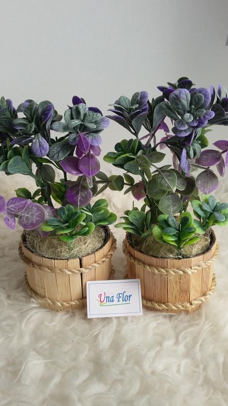 harga Pohon daun artificial plastik ungu pot stik kayu Tokopedia.com