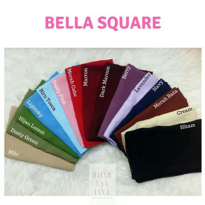 Jual Kerudung Jilbab Bella Square Murah High Quality Desaya Store