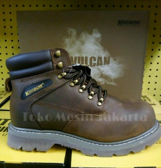 harga Krisbow sepatu safety vulcan brown/sepatu safety krisbow vulcan brown Tokopedia.com