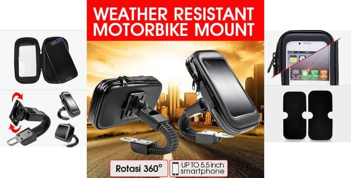 harga Flexible holder motor spion waterproof / dompet handphone water proof Tokopedia.com