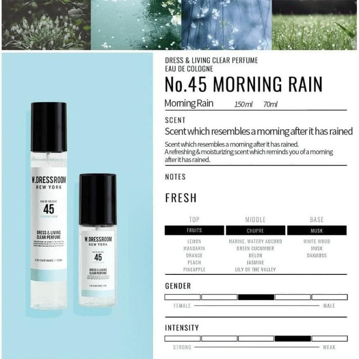 [W.DRESSROOM] Dress & Living Clear Perfume No.45 (Morning Rain) 70ml