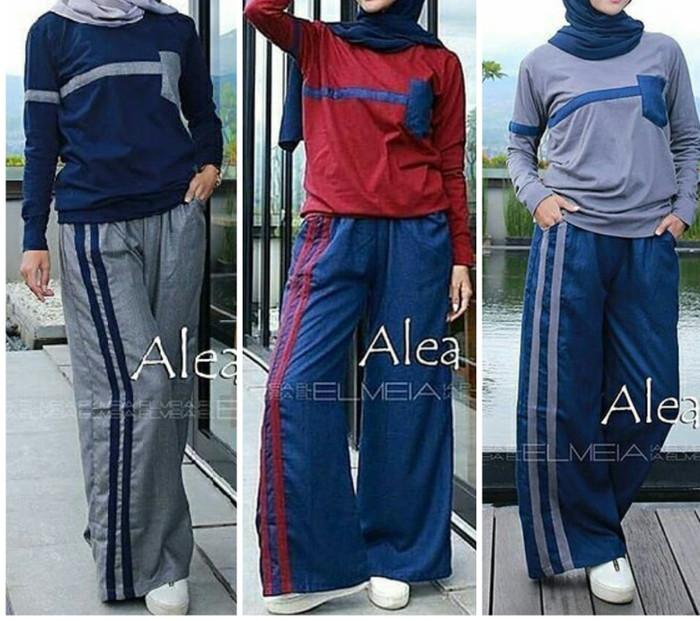 harga Setelan baju blouse kaos celana panjang wanita training olahraga senam Tokopedia.com