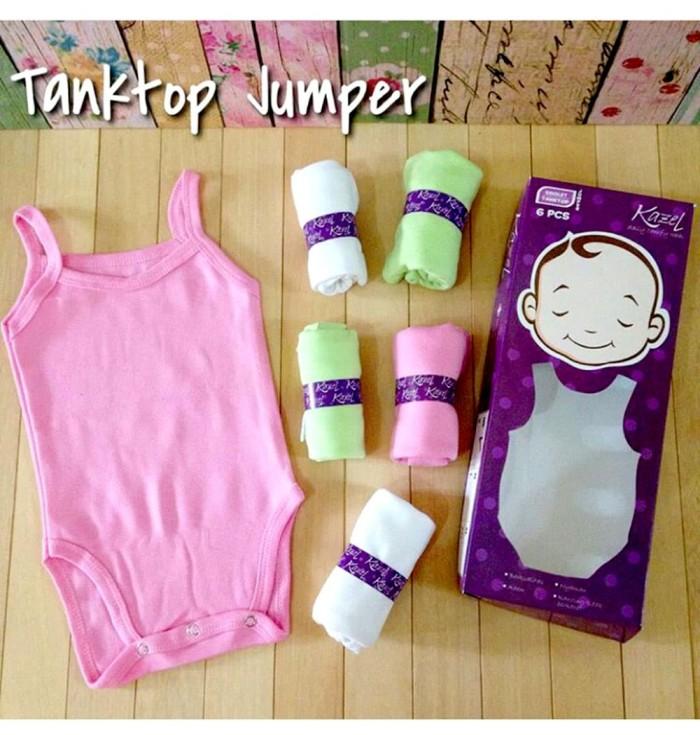 Kazel Singlet Jumper-baju bayi s.d batita ( Isi 6 Pc ) Motif Polos-