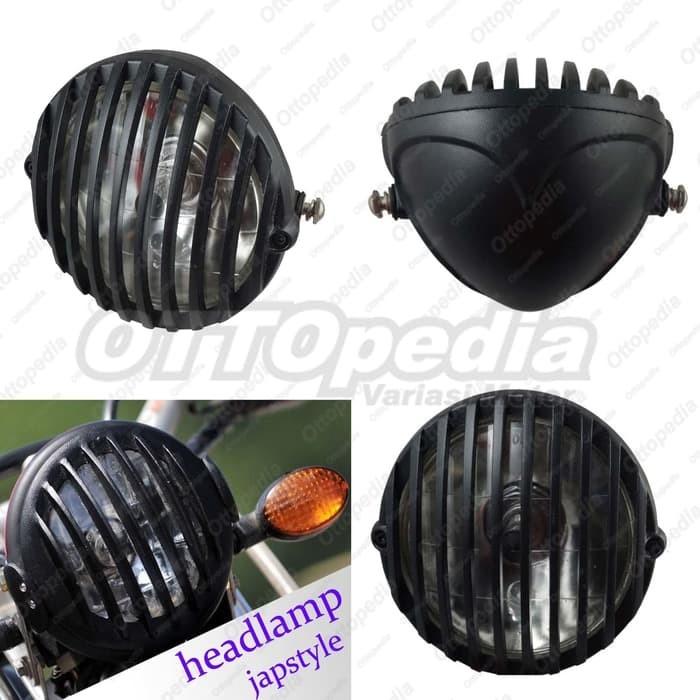 harga Reflektor retro jeep headlamp lampu depan japstyle cafe racer grill Tokopedia.com