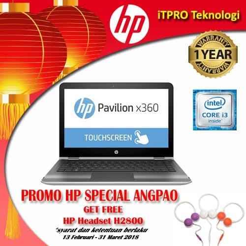 HP Pav x360 13-U170TU Silver - Core i3-7100U,4GB,500GB