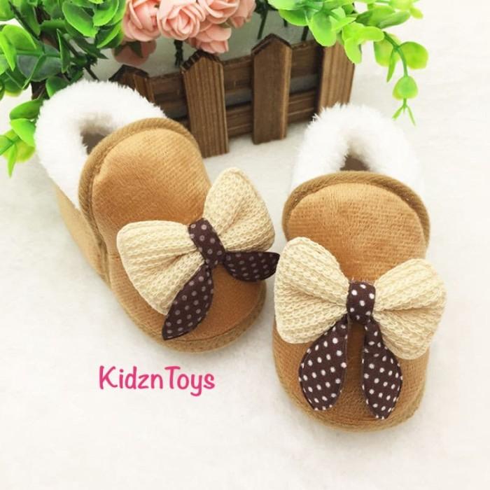 harga Sepatu bayi prewalker beludru pita cute Tokopedia.com