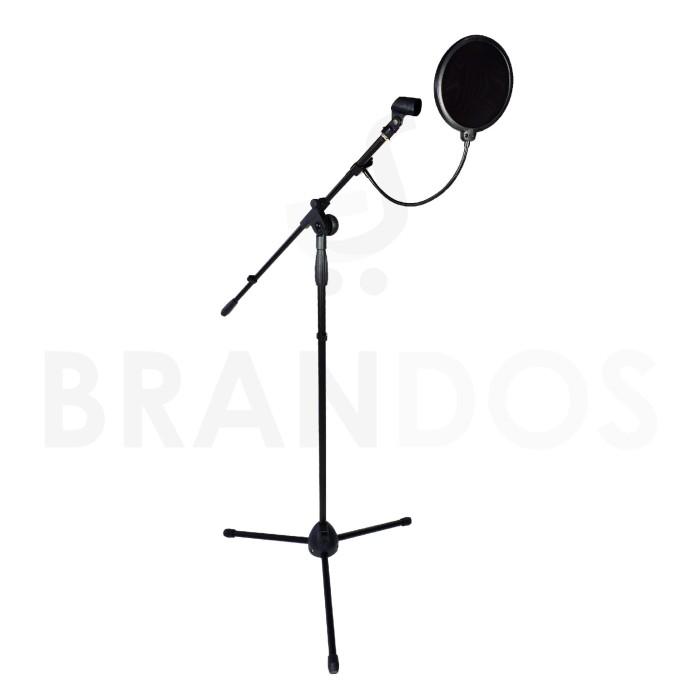 Stand microphone + mic holder + pop filter / mic tripod condenser