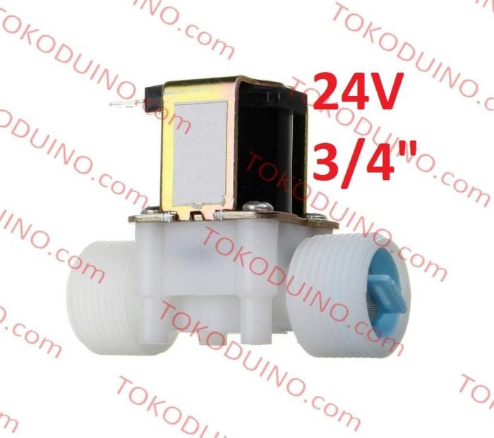 harga Water electric solenoid valve 24v nc in out 3/4  kran keran elektrik Tokopedia.com