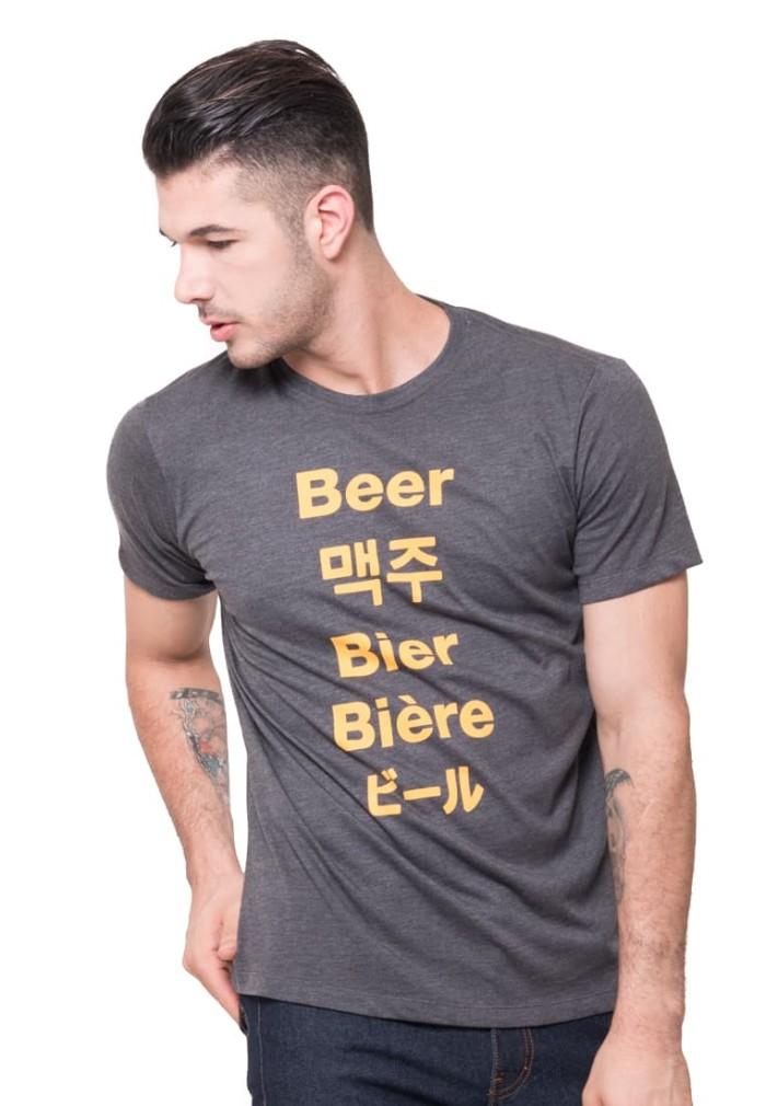 harga Tendencies tshirt beer world - abu-abu xl Tokopedia.com