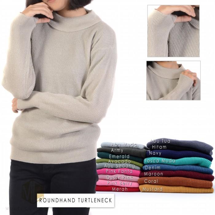 Foto Produk Roundhand turtleneck |swater roundhand | sweater rajut | baju rajut dari multishop_bdg