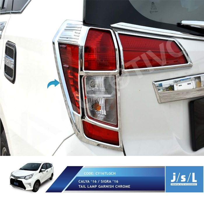 harga Toyota calya garnish lampu belakang jsl / tail lamp garnish chrome Tokopedia.com